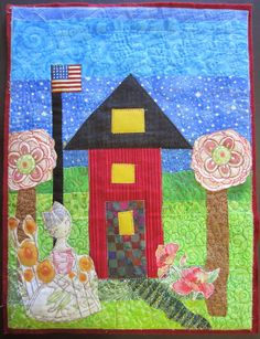 The House Quilt Project: Three Red Houses
