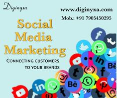 Diginyxa is a creative social media marketing company in Allahabad, India. Contact now and get your brand promotion services in your budget. Social Media Marketing Companies, Marketing Tools, Social Networks, Internet Marketing, Networking Websites, Improve Communication, Brand Promotion, Social Media Channels, Budgeting
