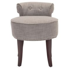 I love this style for a vanity stool.   Megan Vanity Stool in Gray from the Pretty & Pampered event at Joss and Main!