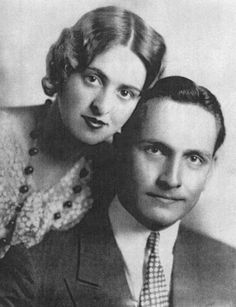 Fredric March and Florence Eldridge shortly after their marriage, 1927