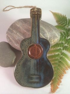 Pottery Acoustic Guitar Ornament