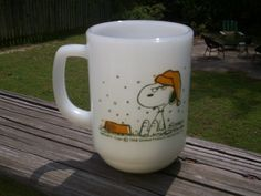 Vintage Fire King SNOOPY French Toast Mug by thetrendykitchen, $40.00