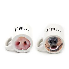 Creative ceramic mug cute coffee cup dog and Pig Nose mugs tea cups drinkware drink holder With Box milk container gift craft #Affiliate
