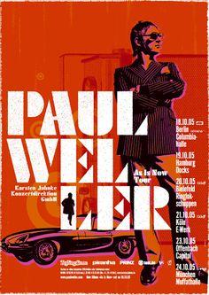 Paul Weller Tourposter- mitchum d.a.