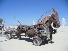 Burningman artcars   Leale's Burning Man RV Repair Motorhome Service Truck Repair Art Car ...