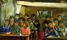 La escuelita rural, 1956: Obra de Antonio Berni