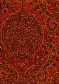 Upholstery Fabrics - Paisley - Opium 5404 By Barrow/Merrimac Fabrics