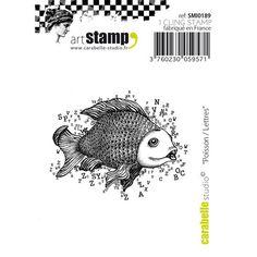 Carabelle Studio Cling Mini Stamp Fish Letters   Blitsy