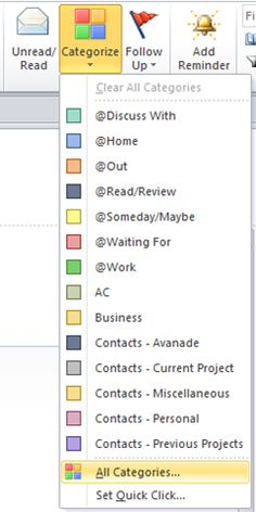 GTD w/Outlook categories