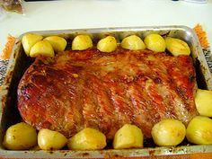 Costelinha de porco assada - http://www.receitasbrasileiraseportuguesas.com/costelinha-de-porco-assada/