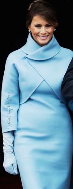 Gorgeous, gorgeous, gorgeous!! Love the matching gloves too!!!/Regilla ⚜ Melania Trump