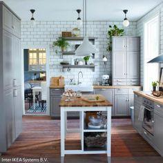 IKEA Österreich, Inspiration, Küche, Front LIDINGÖ, Griff FÅGLAVIK ...