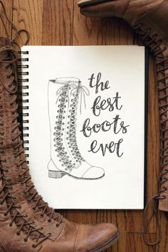 3. your favorite thing to wear: these boots (I'd wear them every day if only spring and summer didn't exist.)