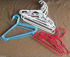 Hangers 12 Childrens Clothes Hangers Red White Blue