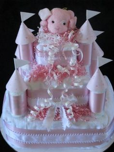Castle diaper cake idea