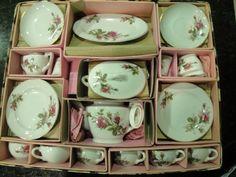 Vintage Moss Rose Child's Tea Set Porcelain Japan Complete Set | eBay
