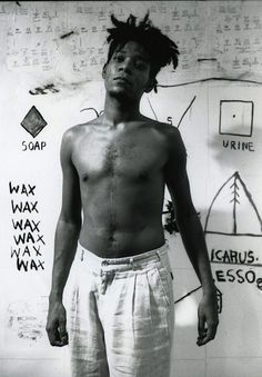 Jean-Michel Basquiat.22 December.Born Today in 1960. American artist.