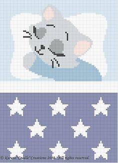 Crochet Patterns-SWEET DREAMS BABY BOY KITTEN Pattern