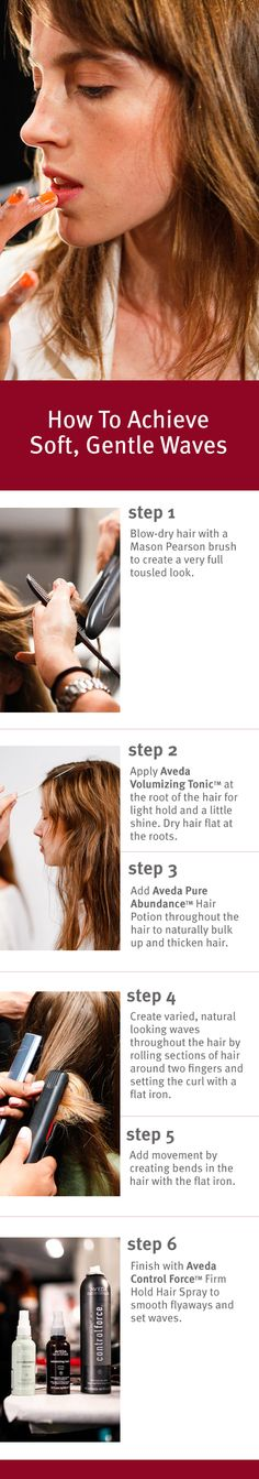 #HairHowTo: Create the soft, gentle waves from @Steven Trotter Trotter Alan Shop #SS14. #NYFW