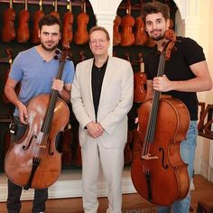 With Co-Owner and Managing Director of J & A Beare, Steven Smith #2cellos #stjepanhauser #lukasulic #London #lso