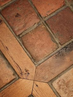 Favorite floor tile and wood squares.