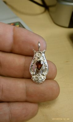 Sterling Spoon Pendant by DeMichels on Etsy, $90.00