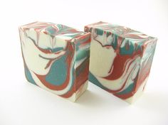 Desert Rose Swirl Handmade Soap with geranium and by PipingHotSuds