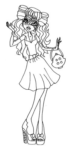 Monster High Clothes Wear Nice Operetta Coloring Page