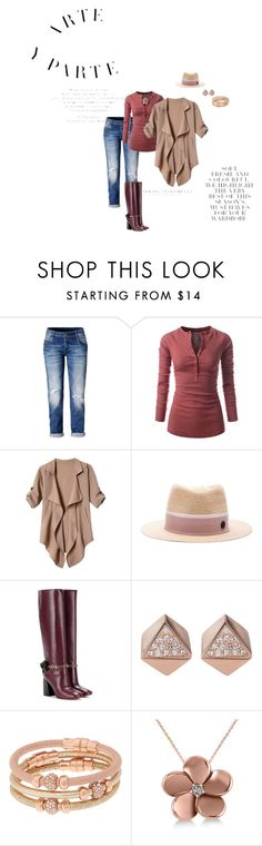"""Saturday flow"" by lisavern ❤ liked on Polyvore featuring Maison Michel, Tory Burch, FOSSIL, Henri Bendel, Allurez and Folio"