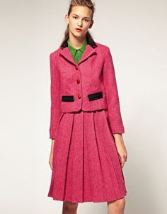 House of Holland tweed jacket and skirt
