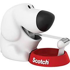 Scotch Dog Tape Dispenser with Scotch Magic Tape, x 350 Inches, 1 Roll, 1 Dispenser Printer Desk, Cute Office Supplies, Art Supplies, Cute Desk, Office Supply Organization, Tape Dispenser, Scotch Tape, Thing 1, Dog Pin