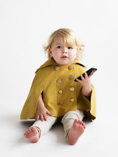 Dino Bebe - Spring Poncho  - goodness, this is sweet!