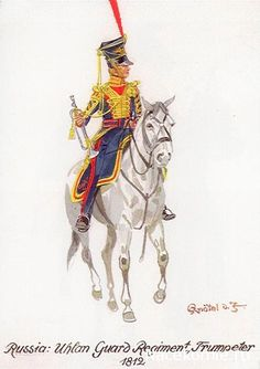 Russia; Imperial Guard, 4th Uhlan Regiment, Trumpeter 1812