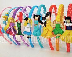 ribbon sculpture disney inspired princess clips or por daniellimb