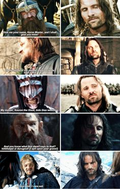 Aragorn is 100% done with everyone's shit.