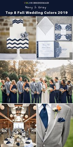 Top 8 fall wedding color trends and ideas for 2019 Navy Blue. Informations About Top 8 fall Fall Wedding Decorations, Fall Wedding Colors, Wedding Ideas, Diy Wedding, Wedding Groom, Wedding Cakes, Wedding Planning, Fall Wedding Inspiration, Fall Wedding Themes