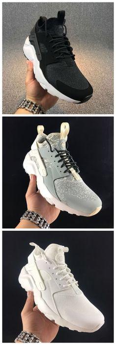 372a9e274d37a Cheap Nike Air Huarache Run Ultra 1 FlyKnit Unisex shoes Black Gray White  Free Shipping WhatsApp 8613328373859