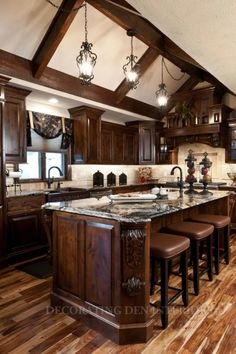 0811a1-14 Rustic Country Kitchens, Rustic Kitchen, Kitchen Decor, Luxury Kitchens, Cool Kitchens, Remolding Kitchen, Grand Kitchen, Best Kitchen Designs, Design Kitchen
