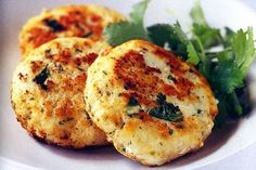 Thai-style fish cakes with lime mayonnaise