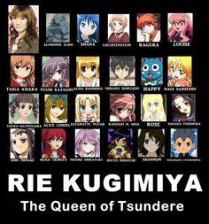 Rie Kugimiya - Bleach (Karin Kurosaki, Nemu Kurotsuchi and Lily) , Fairy Tail (Happy), Shakugan no Shana (Shana) , Toradora! My favorite seiyuu next to Yui Horie! Otaku Anime, Yandere Anime, Yuri Anime, Manga Anime, Rie Kugimiya, Tsundere, Best School Anime, Cd Drama, Zero No Tsukaima