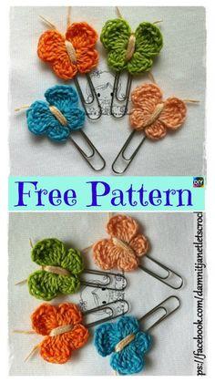 15 Cutest Crochet Beautiful Butterfly – Free Patterns