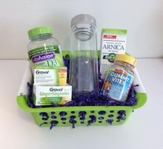 New Year's Reminder Prize Pack Includes:  VitafusionVitamin D,  L'il Critters, Gummy Vites for kids, Gravol Natural Source Ginger Liquid Gels, Rub A535 Natural-Source Arnica Gel Cream, Glass travel mug (with removable tea infuser).   Total Value: $50 Open to Canada Only