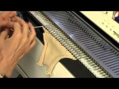 Seashell Stitch to Machine Knit by Diana Sullivan - YouTube