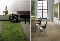 Interesting new line of carpet from interface that employs biophilic design.