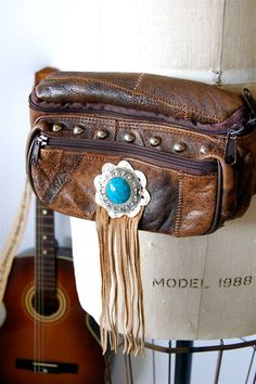 Leather boho hip pouch by hausofmirth, $45.00