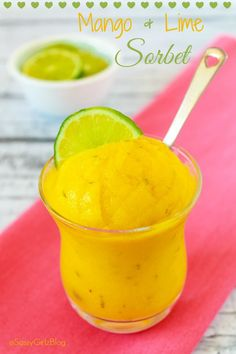 Homemade Mango Sorbe