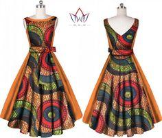 Fashion Women Dress Plus Size 6xl Vestidos Bazin Riche African Print Dress Dashiki Sweet Bowknot Sashes V-neck Party Dress WY606