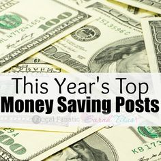 Today I am sharing the top 10 money saving posts of 2014 from my site and one of my good blogger friends' site SarahTitus.com. Her and I love shar