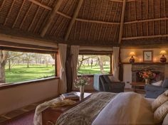 For unbeatable wildlife. This family-run eco-lodge within the 62,000-acre Lewa Wildlife Conservancy offers guests a range of rarefied experiences, including visits with orphaned baby rhinos and safaris by quad bike. Four luxurious tented rooms overlooking a waterhole make the most of armchair game viewing, while a charming two-bedroom cottage and private house complex are perfect for families or small groups.