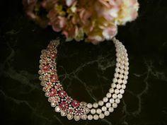Ruby diamond necklace